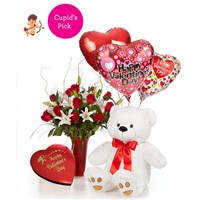 Luxury-Dozen-Roses-Combo-with-Cupid-Message