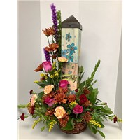 A_beautiful_life_Art_Pole_Flower_Arrangement